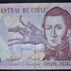 Banconote internazionali: CHILE 2000 PESOS 2004. PICK 160. POLIMERO. Lote 213187565