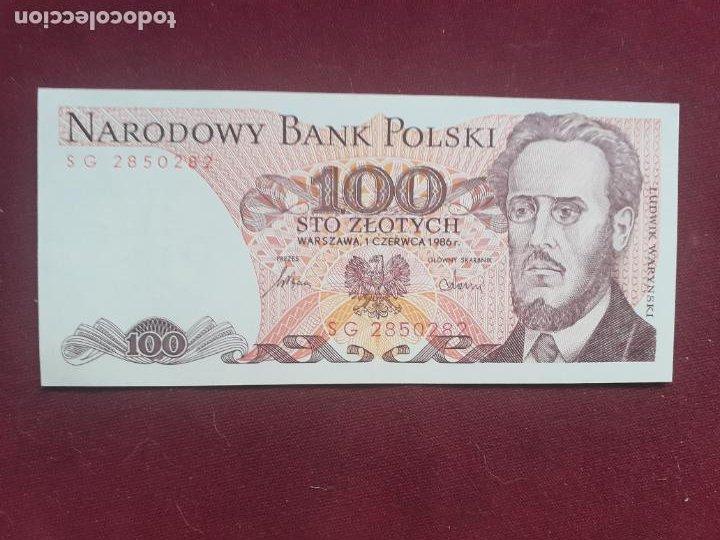 POLONIA 100 ZLOTYCH 1986 SC (Numismática - Notafilia - Billetes Extranjeros)