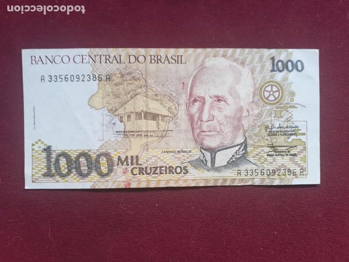 BRASIL. 1000 CRUZEIROS (Numismática - Notafilia - Billetes Extranjeros)