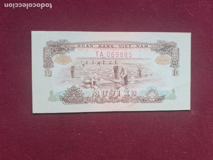 VIETNAM, 10 XU 1966 (Numismática - Notafilia - Billetes Extranjeros)
