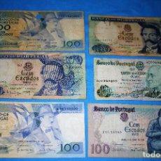 Billetes extranjeros: PORTUGAL LOTE 6 BILLETES CIRCULADOS - LOTE 104. Lote 213608100