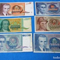 Billetes extranjeros: YUGOSLAVIA 6 BILLETES LOTE 113. Lote 213610062
