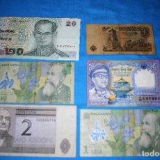 Billetes extranjeros: MUNDO 6 BILLETES DE BANCO LOTE 117. Lote 213610465