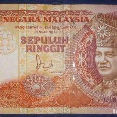 Billetes extranjeros: MALAYSIA MALASIA 10 RINGGIT UE8361229. Lote 214006731