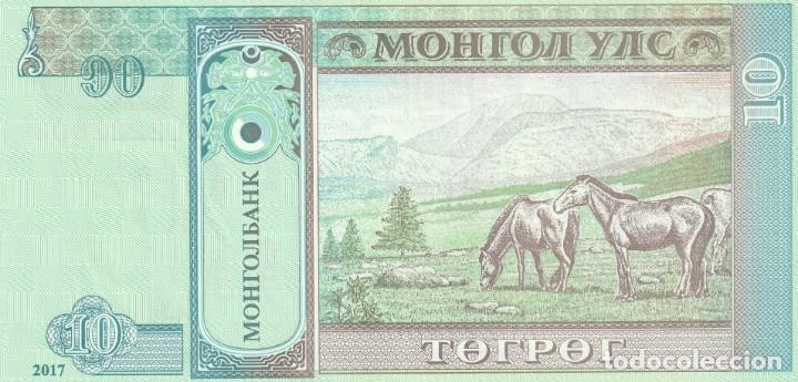Billetes extranjeros: Mongolia 10 Tugrik 2017 - Foto 2 - 214021116