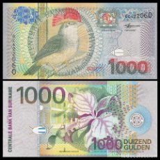 Billetes extranjeros: SURINAM SURINAME 1000 GULDEN 2000. PICK 151. PAJARO. SIN CIRCULAR. Lote 246189155