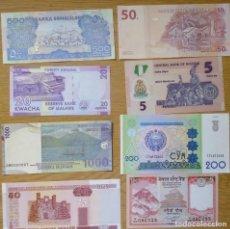 Billetes extranjeros: LOTE DE 8 BILLETES DIFERENTES PAÍSES SON BILLETES COMO NUEVOS ,COMO VES EN LAS FOTOS Nº1. Lote 214654015