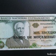 Billetes extranjeros: MOZAMBIQUE, MOÇAMBIQUE 1976. 1000 MIL ESCUDOS. BANCO DE MOÇAMBIQUE.. Lote 214747307