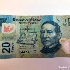 Billetes extranjeros: BILLETE DE 20 PESOS DE MÉXICO. Lote 223994860