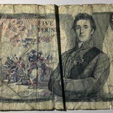 Billetes extranjeros: BILLETE DE 5 LIBRAS, BANK ON ENGLAND. Lote 215723513