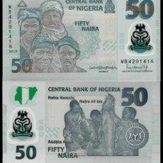 Notas Internacionais: BILLETE DE AFRICA (NIGERIA) 50 NAIRA 2019 SIN CIRCULAR-UNC -. Lote 231748800