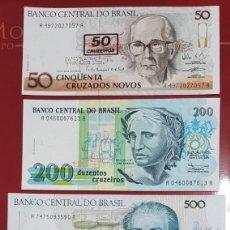 Billetes extranjeros: LOTE BILLETES DE BRASIL, PLANCHA. Lote 215767067