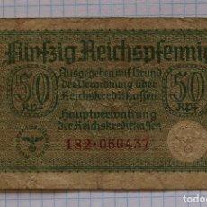Billetes extranjeros: 50 REICHSPFENNIG 1940-1945 ALEMANIA P #R135.. Lote 215992882