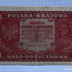 Billetes extranjeros: 1 MARCO 1919 POLONIA. P #23. Lote 216455820