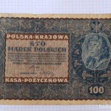 Billetes extranjeros: 100 MARCOS 1919 POLONIA. P #27. Lote 216460941
