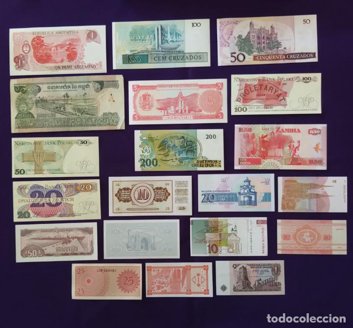 Billetes extranjeros: 20 BILLETES DIFERENTES EXTRAJEROS. ORIGINALES. 19 SIN CIRCULAR Y 1 USADO. - Foto 2 - 269397938