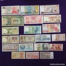 Billetes extranjeros: 20 BILLETES DIFERENTES EXTRAJEROS. ORIGINALES. 19 SIN CIRCULAR Y 1 USADO.. Lote 269397938