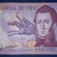 Banconote internazionali: CHILE 2000 PESOS 2008 POLIMERO AS08841289. Lote 216902690