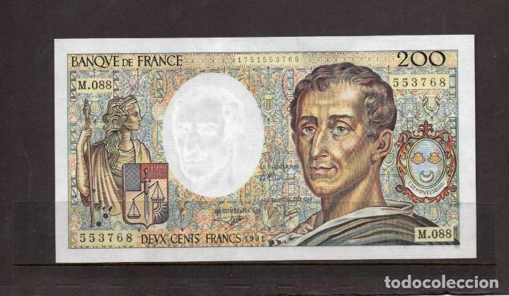 Billetes extranjeros: billete de francia de 200 francos año 1991, - Foto 2 - 217012321