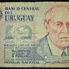 Billets internationaux: URUGUAY 10 PESOS URUGUAYOS 1998. PICK 81. Lote 217052416
