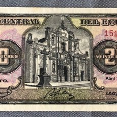 Billetes extranjeros: EQUADOR- 20 SUCRES. Lote 217282670