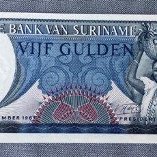 Billetes extranjeros: SURINAME - 5 GULDEN. Lote 217282767