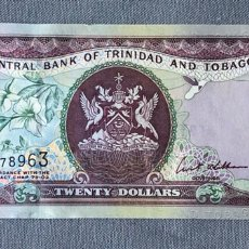 Billetes extranjeros: TRINIDAD AND TOBAGO - 20 DOLLARS. Lote 217283550