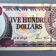 Billetes extranjeros: GUYANA - 500 DOLLARS. Lote 217284400