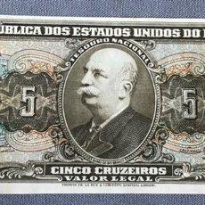 Billetes extranjeros: BRASIL - 5 CRUZEIROS. Lote 217284563