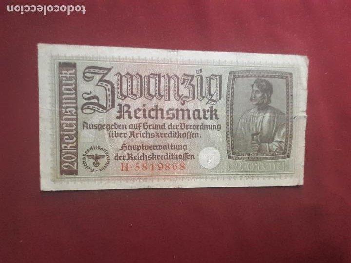 ALEMANIA NAZI - TERRITORIOS OCUPADOS III REICH - 2ª GUERRA MUNDIAL - 20 REICHSMARK (Numismática - Notafilia - Billetes Extranjeros)