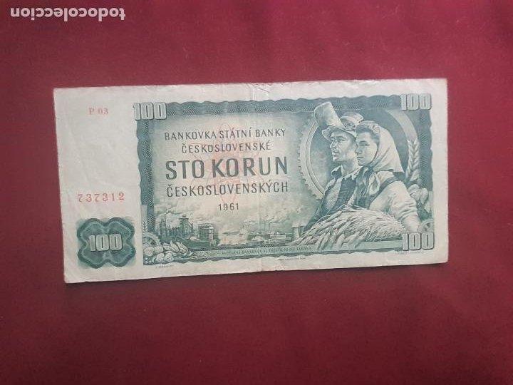 CHECOSLOVAQUIA. 100 KORUN 1961 (Numismática - Notafilia - Billetes Extranjeros)