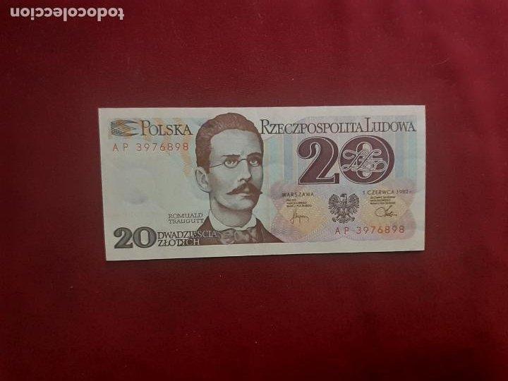POLONIA 20 ZLOTYCH 1982 - SC (Numismática - Notafilia - Billetes Extranjeros)