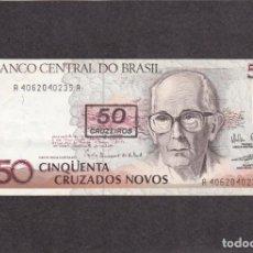 Billetes extranjeros: BRASIL - 50 CRUZADOS NOVOS DE 1990 - SIN CIRCULAR. Lote 218143091