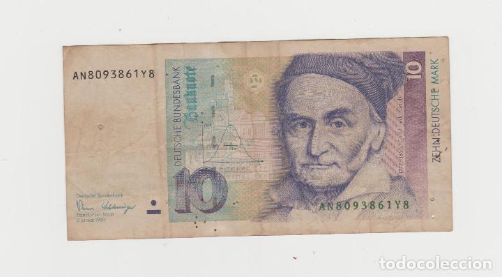 ALEMANIA- 10 MARCOS- 1989 (Numismática - Notafilia - Billetes Internacionales)