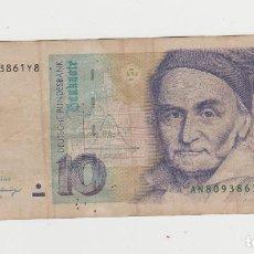 Billetes extranjeros: ALEMANIA- 10 MARCOS- 1989. Lote 218159763