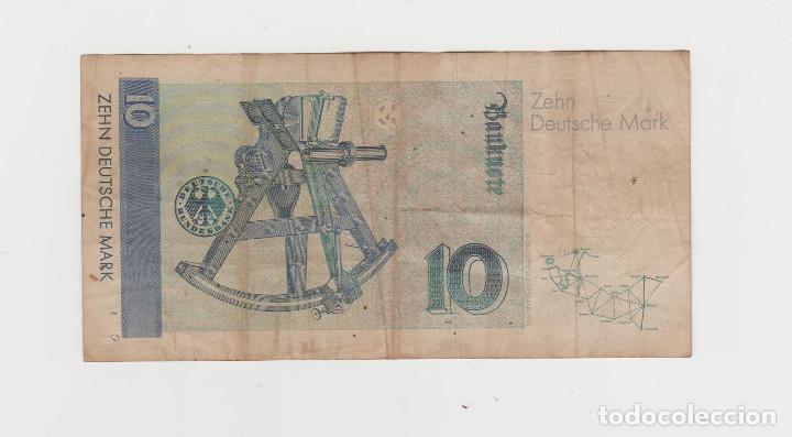 Billetes extranjeros: ALEMANIA- 10 MARCOS- 1989 - Foto 2 - 218159763