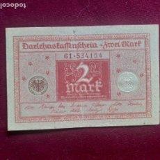 Banconote internazionali: ALEMANIA 2 MARCOS 1920 EBC. Lote 218234718