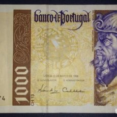 Billetes extranjeros: PORTUGAL 1000 ESCUDOS 1998 9A9817774. Lote 218253451