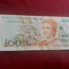 Billetes extranjeros: BRASIL 100 CRUZADOS NOVOS SC. Lote 218692366