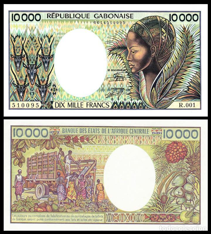 GABON : 10000 FRANCOS. SC. UNC (Numismática - Notafilia - Billetes Extranjeros)
