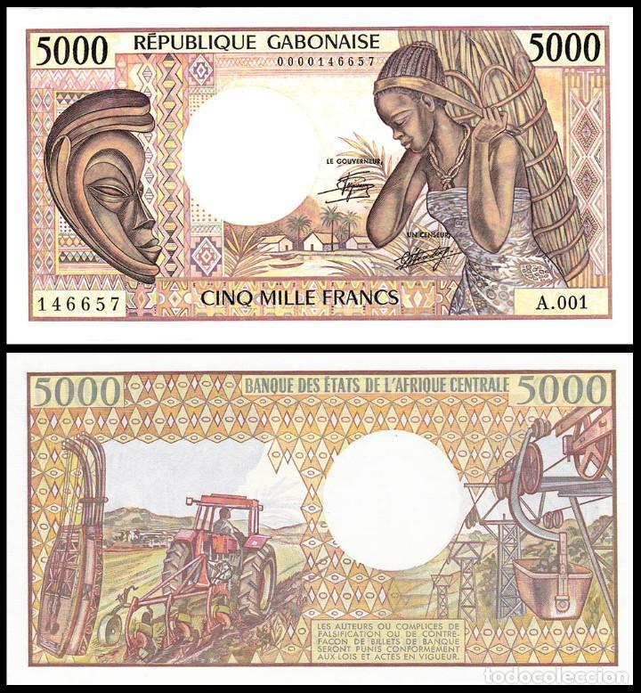 GABON : 5000 FRANCOS. SC. UNC (Numismática - Notafilia - Billetes Extranjeros)