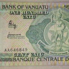 Billetes extranjeros: VANUATU 100 VATU AA646849. Lote 218851423