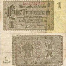 Billets internationaux: ALEMANIA 1937 - 1 RENTENMARK - 173B.1 - CIRCULADO. Lote 218916881