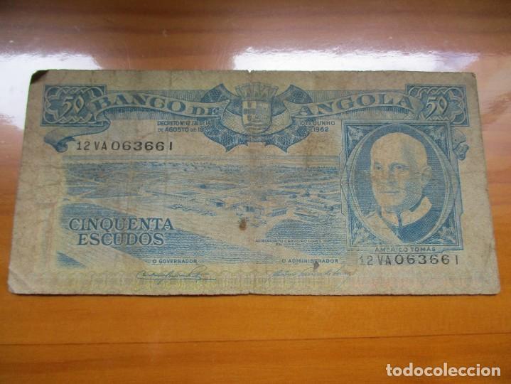 ANGOLA - 50 ESCUDOS (Numismática - Notafilia - Billetes Extranjeros)