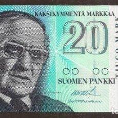 Billetes extranjeros: FINLANDIA. 20 MARKKAA 1997. PICK 123. S/C. ULTIMO BILLETE EMITIDO ANTES DE PASAR AL EURO.. Lote 211591759