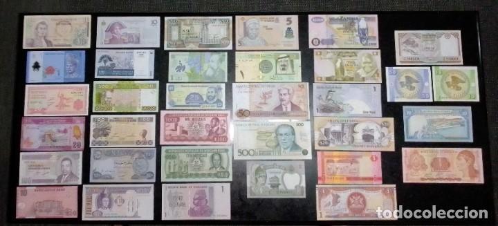 34 BILLETES MUNDIALES NUEVOS PERFECTO ESTADO SIN CIRCULAR (Numismática - Notafilia - Billetes Extranjeros)
