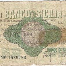 Billetes extranjeros: ITALIA - ITALY 100 LIRE 2-4-1976 CATANIA. Lote 219611963