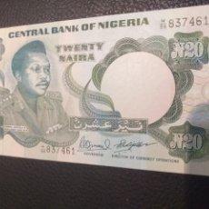 Billetes extranjeros: BILLETE DE NIGERIA 20 NAIRA. Lote 220532335