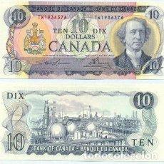 Billetes extranjeros: CANADA NOTE 10 DOLLARS 1971 PREFIX TW P 88C AXF. Lote 220698443