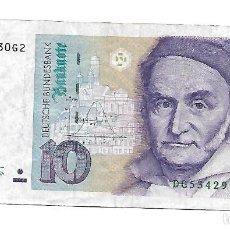 Notas Internacionais: ALEMANIA FEDERAL 10 DEUTSCHE MARK 1993. Lote 220879715